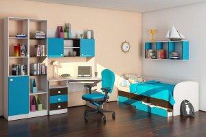 модульная мебель для детской Бриз 1 - Мебельная фабрика «Шадринская»