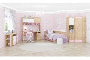 Модульная серия для детской Дублин Роуз  - Мебельная фабрика «МСТ. Мебель»