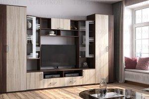 Модульная гостиная Бриджит-3 ЛДСП - Мебельная фабрика «Террикон»