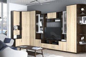 Угловая гостиная Бриджит-3 ЛДСП - Мебельная фабрика «Террикон»