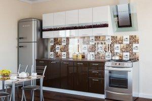 Кухня глянцевая модульная Кофе - Мебельная фабрика «Империя»