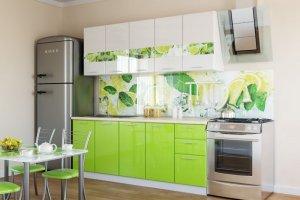 Кухня с фотопечатью модульная Лайм - Мебельная фабрика «Империя»