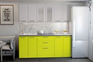 Кухня желтая модульная Мыло - Мебельная фабрика «Империя»