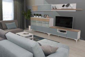 Модульная система в гостиную Альба - Мебельная фабрика «Мирлачева»