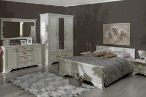 Модульная Спальня Кентаки (Белый) - Импортёр мебели «БРВ Black Red White»