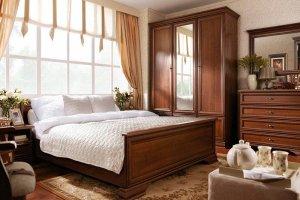 Модульная Спальня Кентаки (Каштан) - Импортёр мебели «БРВ Black Red White»