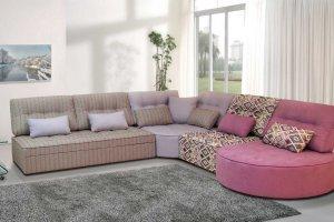 Модульный диван Бэлла со спальным местом - Мебельная фабрика «Элфис»