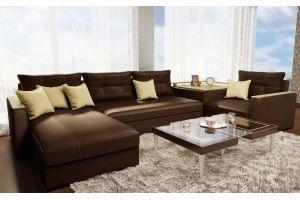 Модульный диван Фантазия 8 кожа - Мебельная фабрика «МИГ»