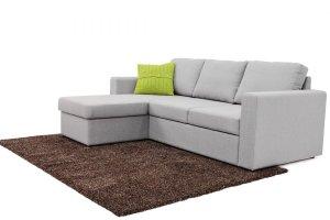Угловой диван с оттоманкой и бельевым ящиком Фит - Мебельная фабрика «Джениуспарк»
