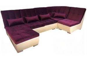Модульный диван Лилия-5 с углом и оттоманкой - Мебельная фабрика «ПЕРСПЕКТИВА»