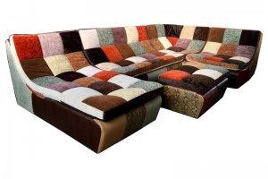 модульный угловой  диван Ланкастер печворк - Мебельная фабрика «Финнко-мебель»