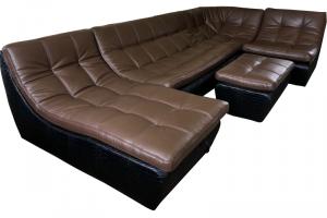 модульный угловой кожаный диван Ланкастер - Мебельная фабрика «Финнко-мебель»