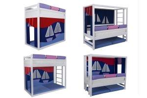 Кровать Мореход-перевертыш - Мебельная фабрика «Мебель Холдинг»