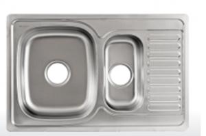 Мойка Лагуна врезная из нержавейки прямоугольная S7850P - Оптовый поставщик комплектующих «Модерн стайл»