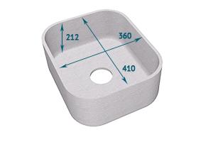 Мойка Tristone 335 квадратная врезная - Оптовый поставщик комплектующих «Level»
