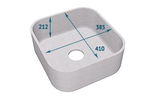Мойка Tristone 385 квадратная врезная - Оптовый поставщик комплектующих «Level»