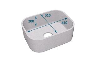 Мойка Tristone 410 прямоугольная врезная - Оптовый поставщик комплектующих «Level»