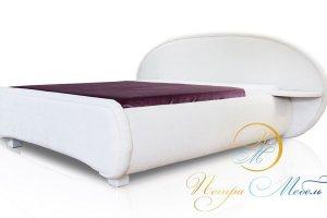 Мягкая белая кровать - Мебельная фабрика «Петрамебель»