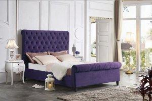 Мягкая двуспальная кровать IR-0822 - Импортёр мебели «Евростиль (ESF)»