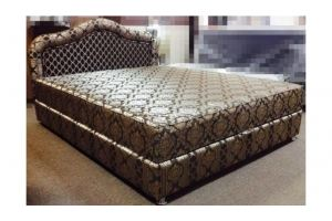 Мягкая кровать с изголовьем Волна - Мебельная фабрика «Диваны от Ани и Вани»