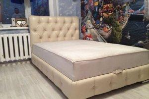 Мягкая кровать с каретной стяжкой - Мебельная фабрика «Диваны от Ани и Вани»