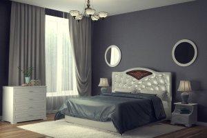Мягкая кровать Шарм 2 - Мебельная фабрика «DM - DarinaMebel»