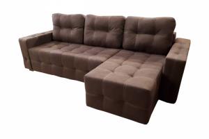 Мягкий диван с утяжками Честер угловой - Мебельная фабрика «Viktoria»