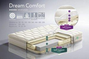 мягкий матрас на независимом блоке Dream Comfort - Мебельная фабрика «Dream land»