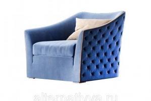 Мягкое голубое кресло AL 6 - Мебельная фабрика «Alternatиva Design»