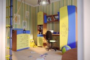 НАБОР детской МЕБЕЛИ МАКС-2 МИНЬОНЫ - Мебельная фабрика «Евромебель»
