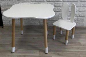 Стол детский Облако и стул Зайчик - Мебельная фабрика «Долорес»