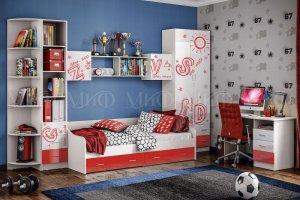 Набор мебели Алфавит красный - Мебельная фабрика «МиФ»