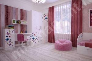 Набор мебели для детской Бабочки - Мебельная фабрика «Орнамент»