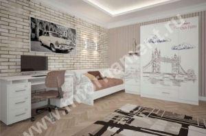 Набор мебели для подростка Фотопечатью ГОРОД - Мебельная фабрика «Орнамент»