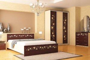 Набор мебели для спальни Анжелика-3.2 - Мебельная фабрика «Юнона»