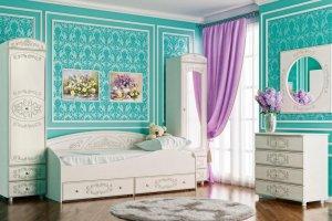 Набор мебели в детскую Каролина 1 - Мебельная фабрика «Олмеко»