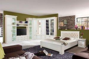 Набор модульной мебели Олимпия белая эмаль с золотой патиной  - Мебельная фабрика «Ивна»