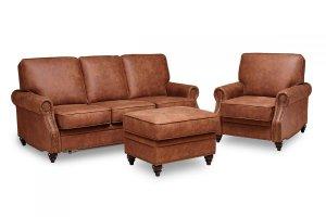 Набор мягкой мебели Дуглас (диван, кресло и пуф) - Мебельная фабрика «Градиент-мебель»