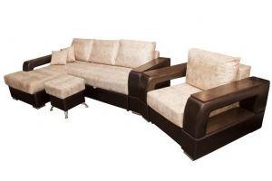 Диван угловой Неаполь с креслом - Мебельная фабрика «FAVORIT COMPANY»