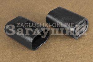Заглушка наконечник на овальную трубу 20х40 мм Артикул Н20-40ЧК - Оптовый поставщик комплектующих «Заглушки»