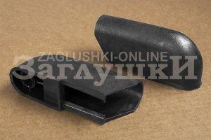 Заглушка наконечник на полуовальную трубу 25х40 мм Артикул Н25-40ЧН - Оптовый поставщик комплектующих «Заглушки»