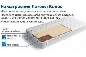 Наматрасник Кокос+Латекс - Мебельная фабрика «Персона»