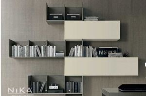 Настенный стеллаж Валетта STL6 - Мебельная фабрика «NIKA premium»