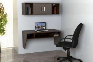 Навесной письменный стол Сити КСН-11С с полкой - Мебельная фабрика «Ная»