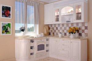 Небольшая белая матовая кухня - Мебельная фабрика «Ревдамебель»