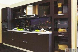 Небольшая прямая кухня - Мебельная фабрика «Актуаль-М»