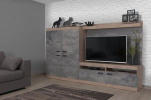 Небольшая стенка Гота в стиле Лофт - Мебельная фабрика «Мирлачева»