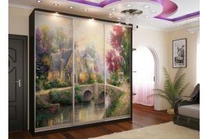 Недорогой шкаф-купе Аквилон - Мебельная фабрика «Магия кухни»