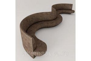 Необычный диван в форме волны ALDES 18  - Мебельная фабрика «Alternatиva Design»