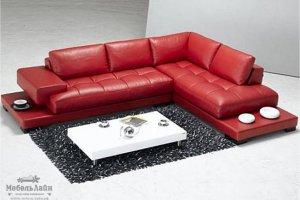 нестандартный кожаный угловой диван Мали - Мебельная фабрика «МебельЛайн»